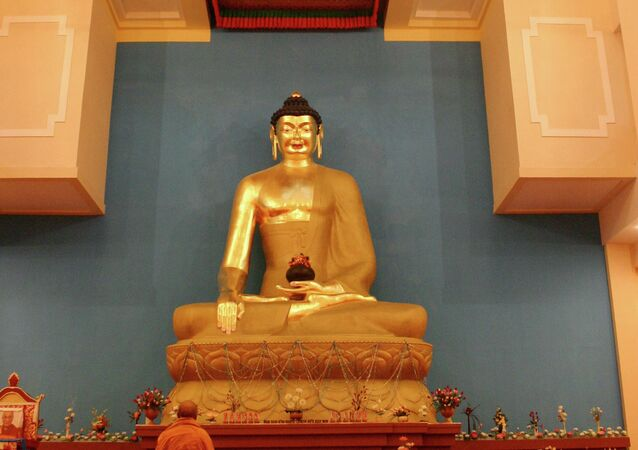 The statue of Buddha