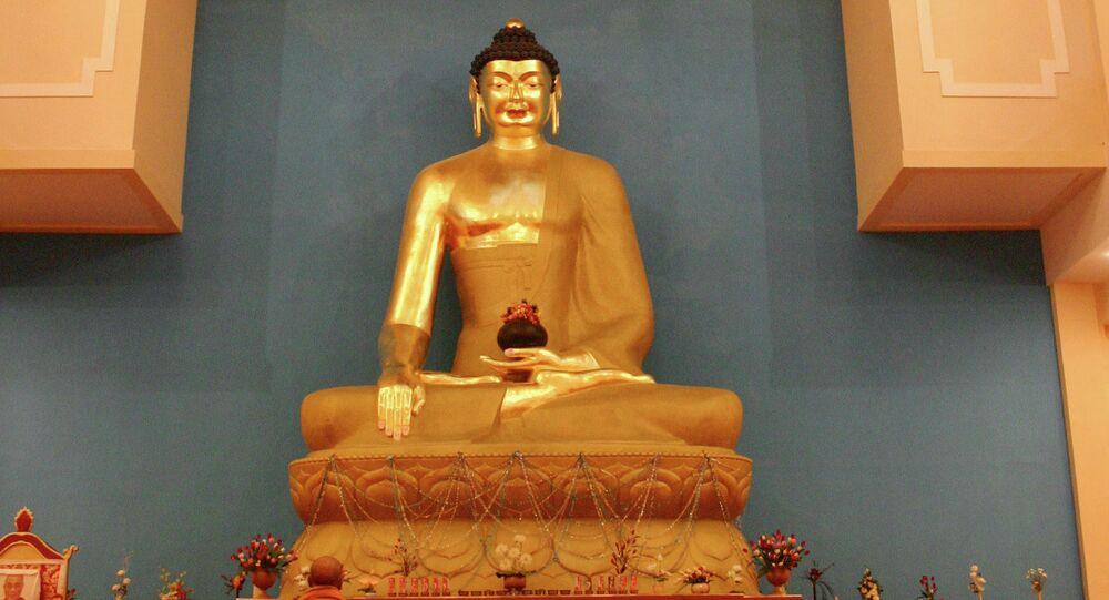 The statue of Buddha