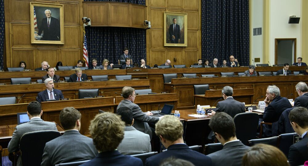 People listen during a hearing of the House Foreign Affairs Committee in Washington, DC. (File)