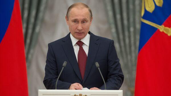 Vladimir Putin presents Hero of Labor of the Russian Federation medals - Sputnik International
