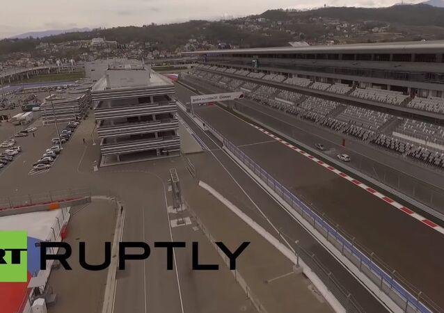 Exclusive drone footage shows Formula 1 Grand Prix track in Sochi