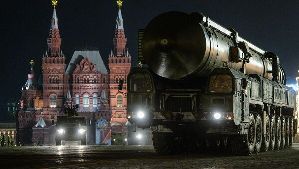 A Yars ground mobile missile system at the rehearsal of the military parade dedicated to the 71 th anniversary of Victory in the Great Patriotic War, in Red Square in Moscow - Sputnik International
