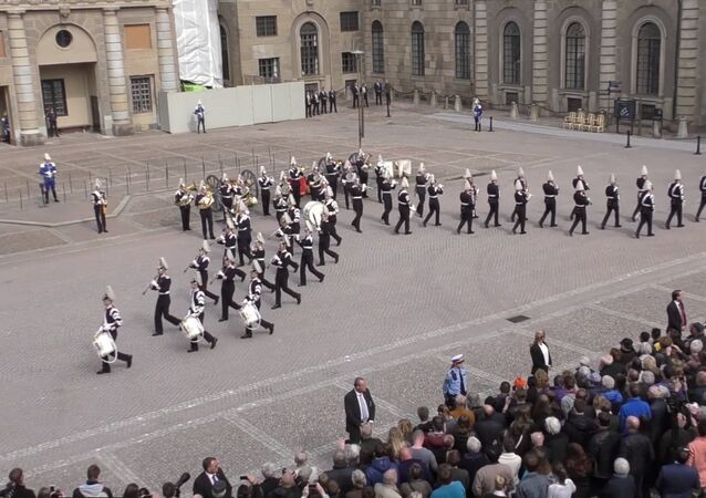 Swedish Military Band Performs 'Dancing Queen'