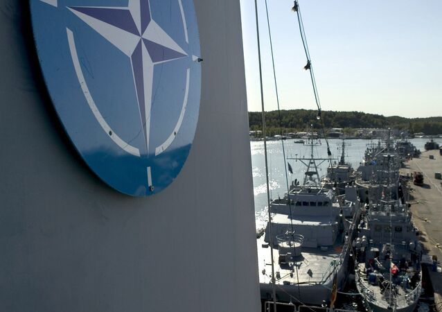 In this file photo dated Aug. 29, 2014, NATO naval mine countermeasure vessels berth in Turku, Finland, during the international Northern Coasts 2014 (NOCO14) military exercise