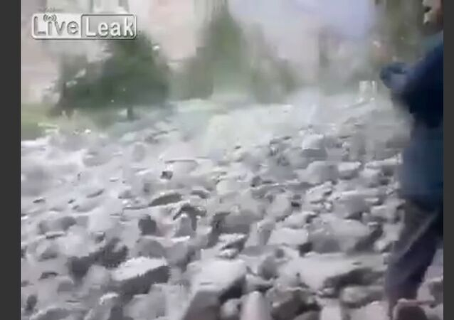 A River Of Boulders And Rocks