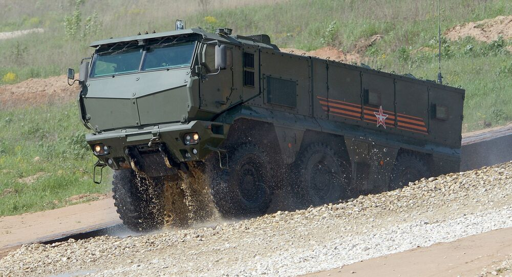 A Typhoon-K armored vehicle displayed in the run-up to the Army-2015 international military-technical forum in the Moscow Region
