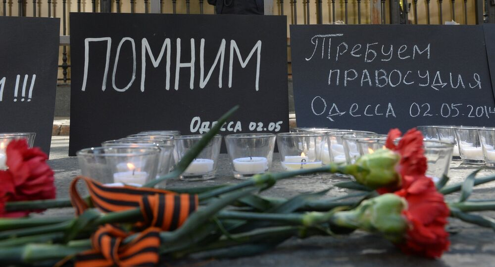 Moscow commemorates those killed in Odessa Trade Unions' House fire