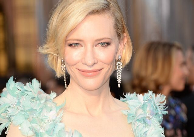Actress Cate Blanchett on the red carpet for the 88th Oscars on February 28, 2016 in Hollywood, California.