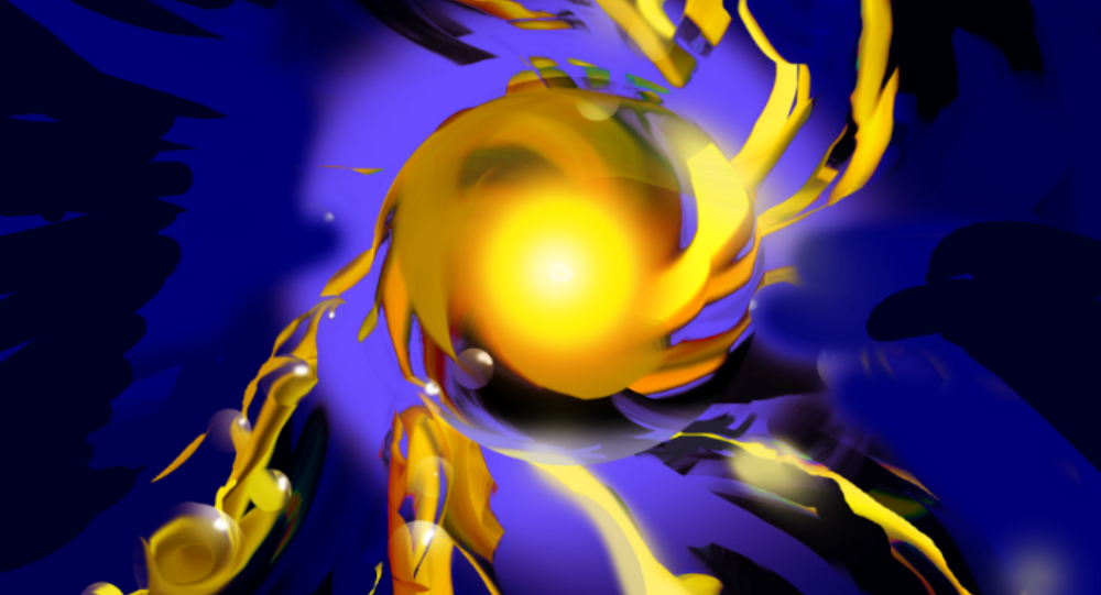 Expanding polymer-coated gold nanoparticles