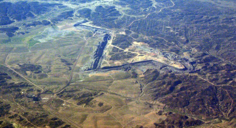 Black Mesa Mine.Land here belongs to the Hopi Tripbe and the Navajo nation
