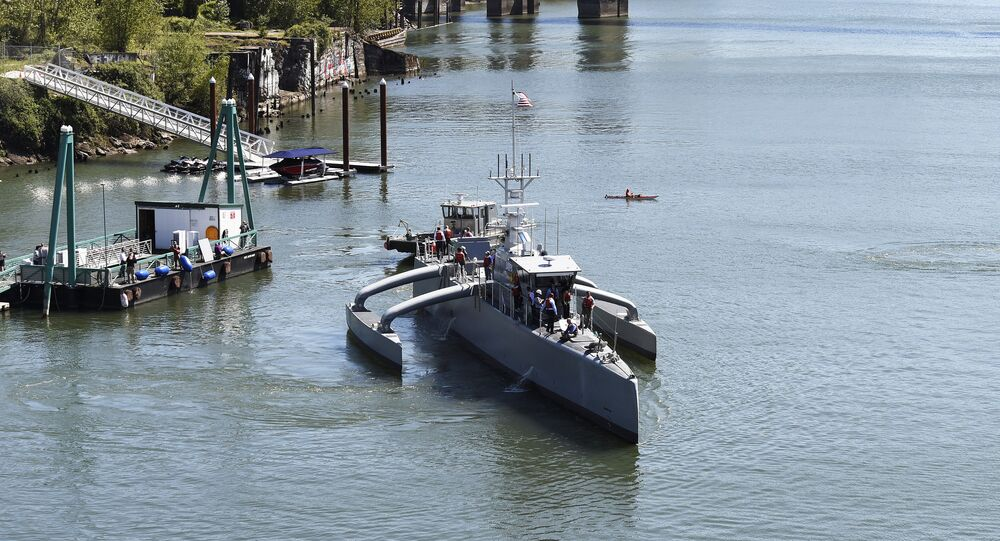DARPA's Robotic Sea Hunter Unmanned Ship