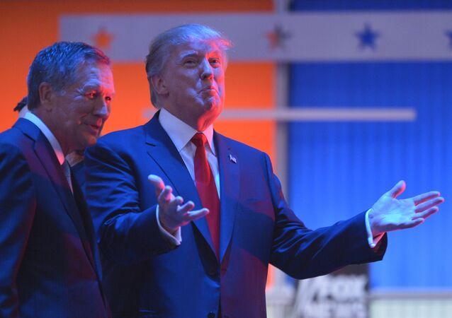 John Kasich and Donald Trump