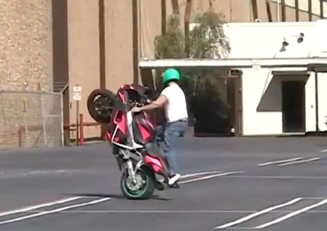 Bike Stunt Goes Out of Control