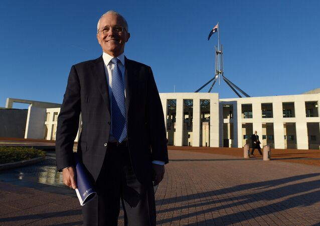 Australian Prime Minister Malcolm Turnbull stands outside Australia's Parliament House in Canberra May 4, 2016 following the announcement Australia's 2016-17 Federal Budget.