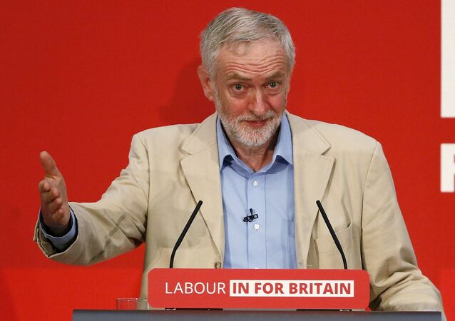 Britain's opposition Labour Party leader Jeremy Corbyn fields questions after giving a speech on Britain's membership of the European Union in London, Britain April 14, 2016.