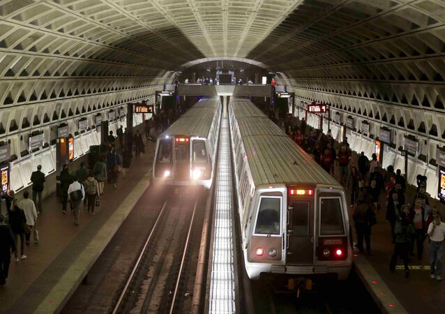 Metro trains arrive in the Gallery Place-Chinatown station,Washington Metro system in Washington (File)