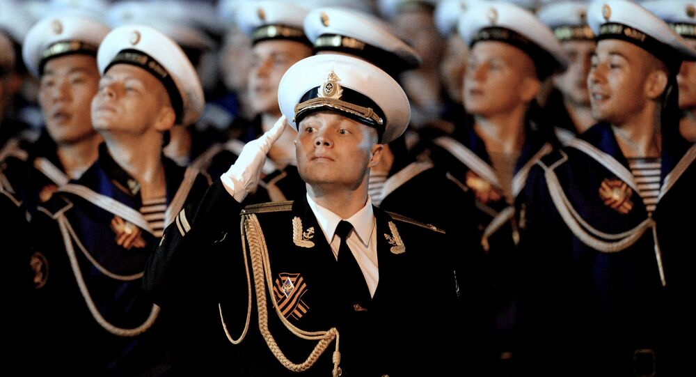 Victory Day parade rehearsal in Russian Vladivostok