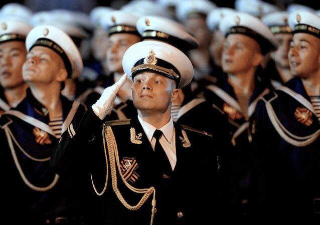 Victory Day parade rehearsal in Russian Vladivostok