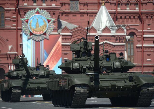 Tank T-90A during the 71st Victory Day Parade in Moscow