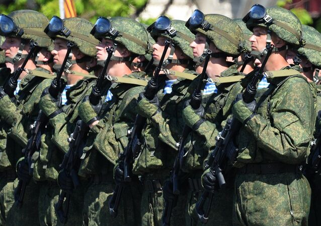 Servicemen during the 71st Victory Day Parade in Moscow