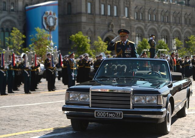 Russian Defense Minister and Hero of Russia, Army Gen Sergei Shoigu during the 71st Victory Day Parade