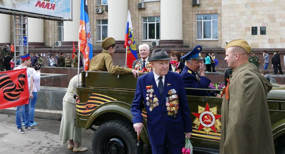 Anniversary of the 71st Anniversary of Victory being celebrated in Donetsk, eastern Ukraine