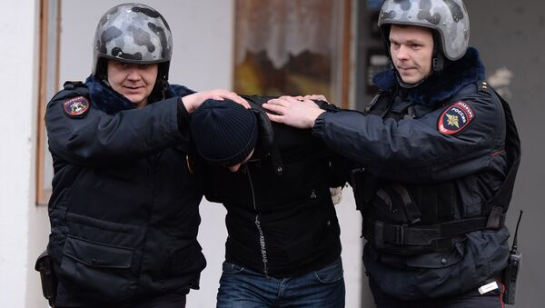 Private security officer at Russian Internal Affairs Ministry Main Directorate - Sputnik International