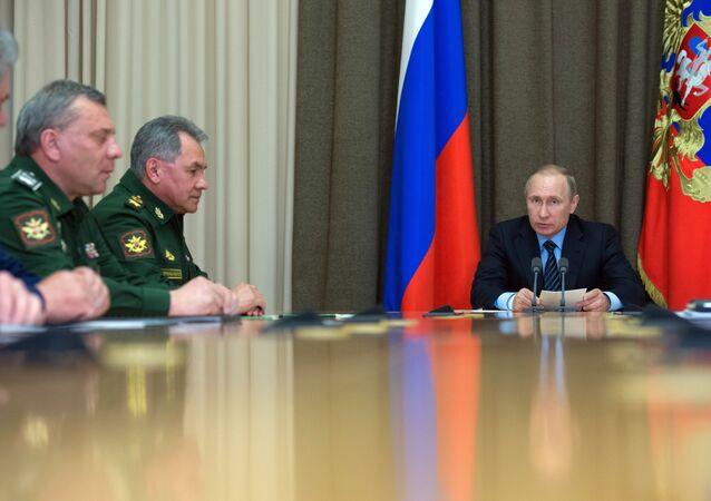 President Vladimir Putin during a meeting