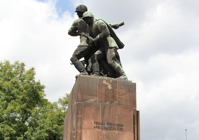 A Soviet war memorial in Poland