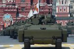 Kurganets-25 armored personnel carriers with medium-category caterpillar chassis at the military parade to mark the 71st anniversary of Victory in the 1941-1945 Great Patriotic War, May 9, 2016