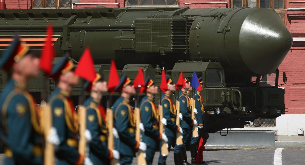 Moscow Victory Day Parade on May 9, 2016.
