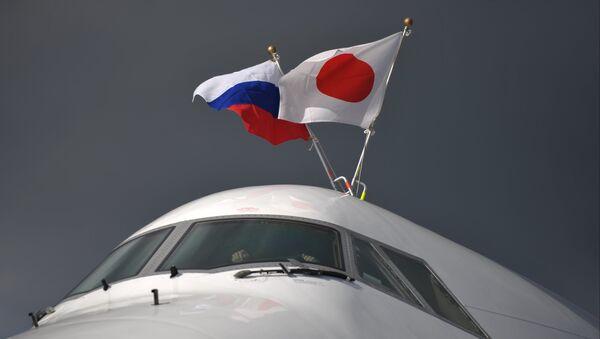 The plane of Prime Minister of Japan Shinzo Abe at Pulkovo Airport, St. Petersburg - Sputnik International