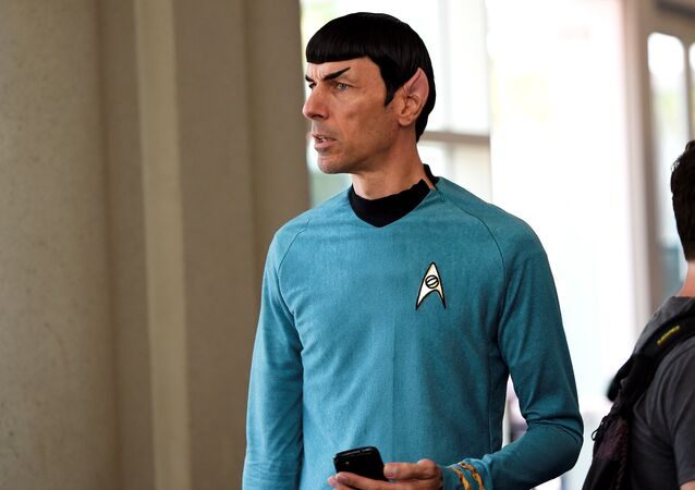 A man dressed as Mr. Spock from the television show Star Trek attends the first day of Comic Con International in San Diego, California, July 9, 2015.