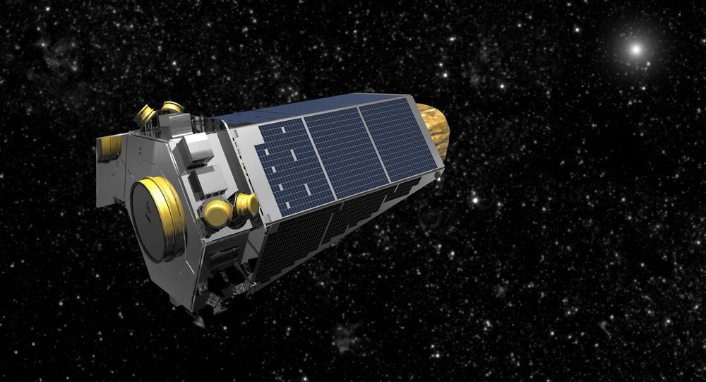 NASA's Kepler spacecraft is seen in an undated artist's rendering