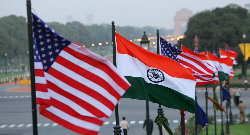 U.S. and Indian flags. File photo