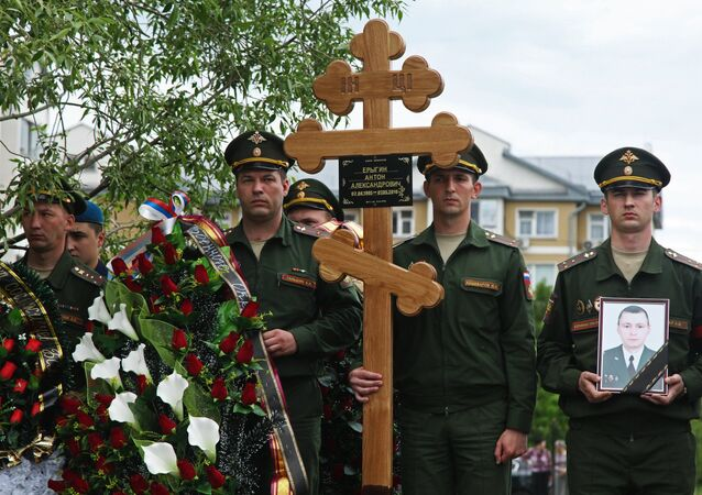 Farewell ceremony for Russia's Syria casualty Anton Yerygin