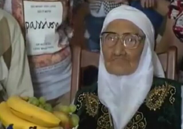 120 year old resident of Astrakhan Tanzilya Bisembeeva