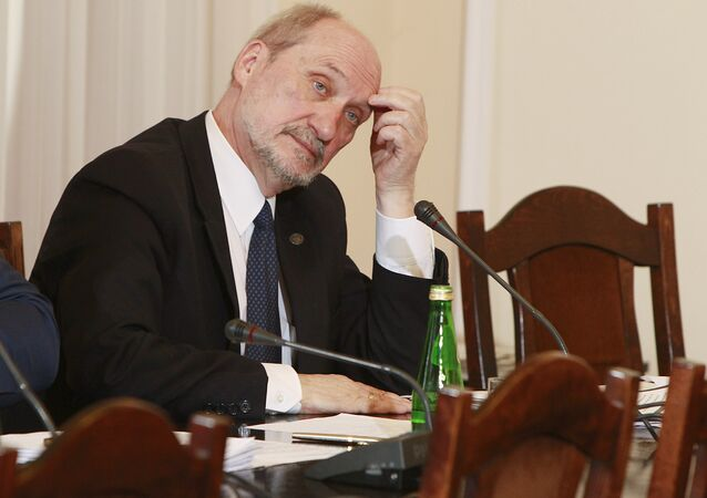 Poland's Defense Minister Antoni Macierewicz during a session of special parliamentary commission.