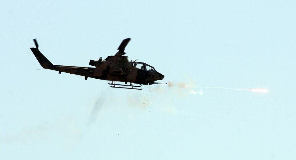 Turkish combat Cobra helicopter