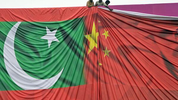 Flags of Pakistan and China - Sputnik International