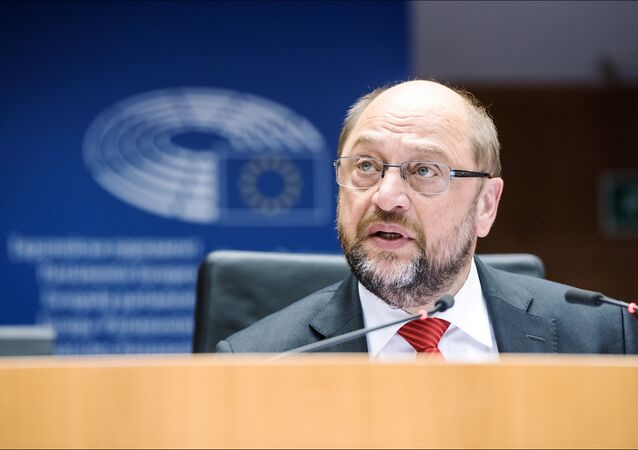 The President of the European Parliament Martin Schulz