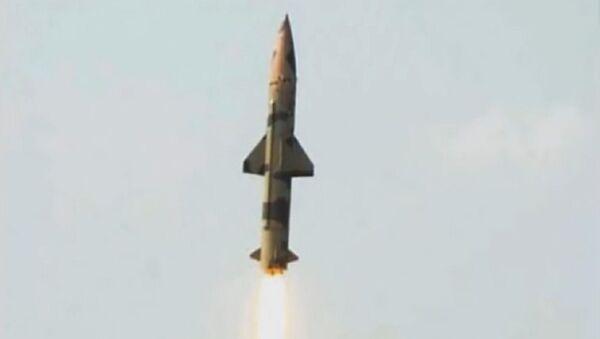 Prithvi-II Missile successfully Test Fired at Chandipur, Odisha. (File) - Sputnik International
