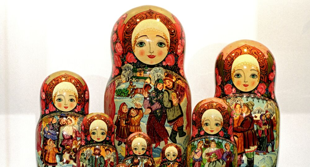 Russian matryoshkas from the meseum Matryoshka at the Folk Craftsmanship Fund of the Russian Federation. (File)