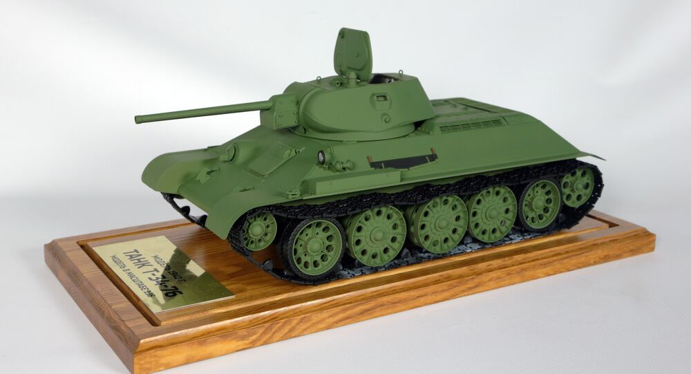 Model of the T-34/76 tank