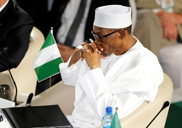 Nigeria's President Muhammadu Buhari attends the opening session of the second Regional Security Summit in Abuja, Nigeria May 14, 2016.