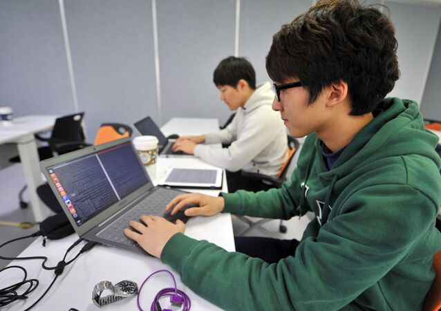 Chang-Won This photo taken on February 14, 2013 shows young computer experts studying at an internet security training centre of the state-run Korea Information Technology Research Institute (KITRI) in Seoul