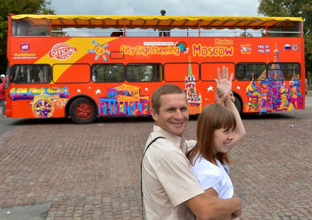 Sightseeing double-decker buses appear in Moscow