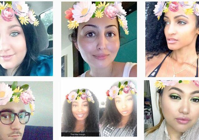 Snapchat shots collage