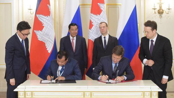 Russia and Cambodia signed a memorandum on peaceful use of nuclear energy Tuesday. - Sputnik International
