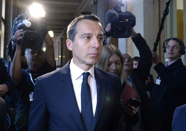 Designated Austrian Chancellor Christian Kern of the Social Democratic Party of Austria (SPOe) arrives for a SPOE-Meeting in Vienna, Austria, on May 17, 2016